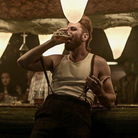 Mad Sweeney (Pablo Schreiber) in 'American Gods'