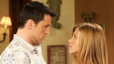 "<p>Ross tells Joey he's been dating his ex, Charlie. Joey doesn't tell Ross that he and Rachel kissed, but Ross finds out anyway, when he walks in on them making out. As gross as Rachel and Joey's relationship is, at least it teaches&nbsp;Ross a lesson (for once) in this episode.&nbsp;<span class=""redactor-invisible-space"" data-verified=""redactor"" data-redactor-tag=""span"" data-redactor-class=""redactor-invisible-space""></span></p>"