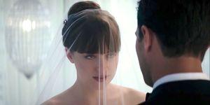 50 Shades Freed, sneak peek trailer, Dakota Johnson, Jamie Dornan, wedding