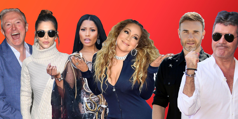 Reality TV feuds, Louis Walsh, Cheryl, Nicki Minaj, Mariah Carey, Gary Barlow, Simon Cowell