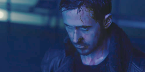 Ryan Gosling looking creepy in Blade Runner 2049