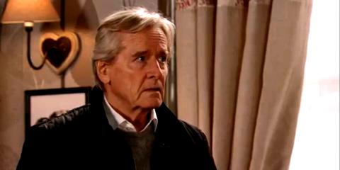 Ken Barlow receives a shock in Coronation Street