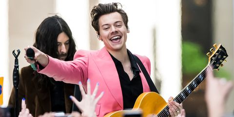 Harry Styles performing in New York on May 9