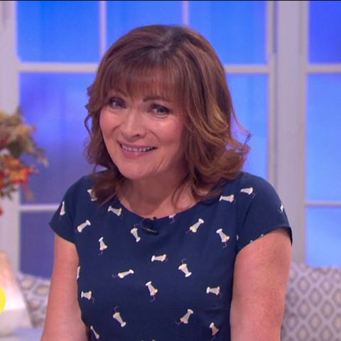 red faced lorraine kelly forced to explain herself as viewers accuse her of wearing very rude dress