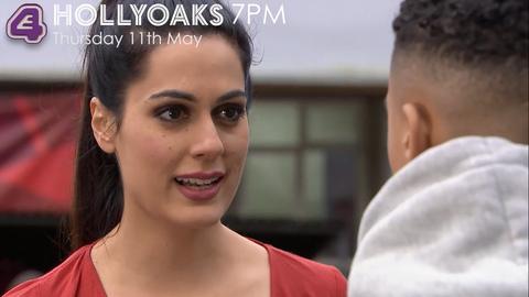 Neeta Kaur confronts Hunter McQueen in Hollyoaks