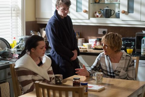 Eastenders: Johnny & Whitney tell Shirley that she needs to come clean to Mick.