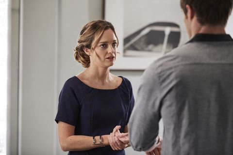 Tori Morgan gets confronted by Nate Cooper over his job in Home and Away