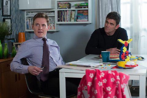 Jack Branning speaks to his brief Jimmie in EastEnders