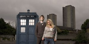 The Tenth Doctor and Rose Tyler in 'Doctor Who'