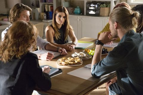 VJ, Irene, Leah and Ash attend a mediation meeting over Luc in Home and Away