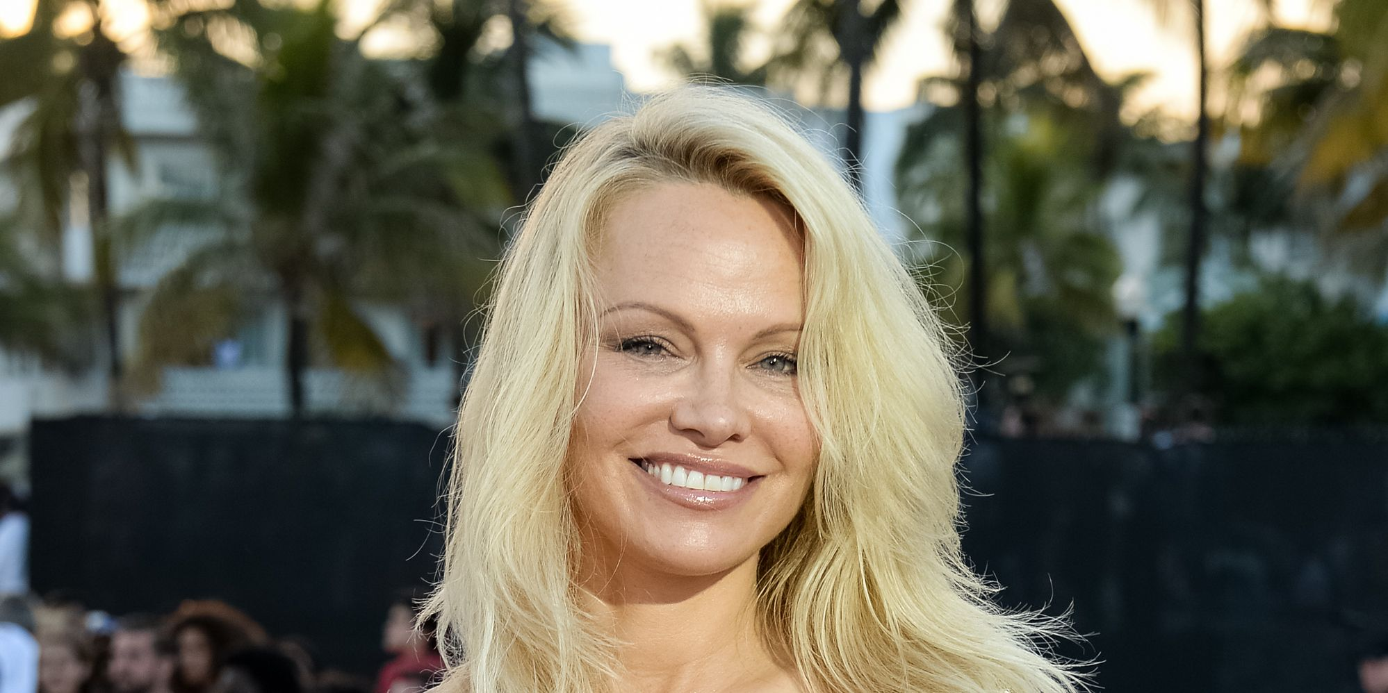 Pamela Anderson attends Paramount Pictures' World Premiere of 'Baywatch'