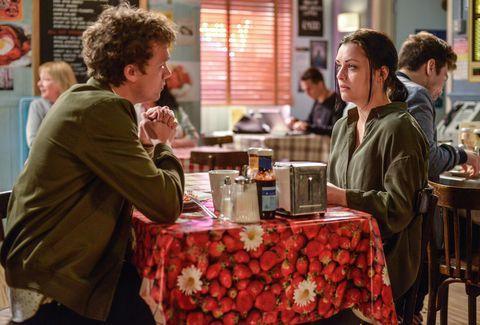Johnny Carter asks Whitney if she's okay in EastEnders