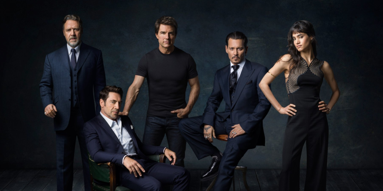 Russell Crowe, Tom Cruise, Sofia Boutella, Javier Bardem and Johnny Depp of Universal's Dark Universe