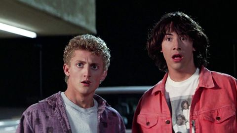 bill and ted's excellent adventure   keanu reeves and alex winter