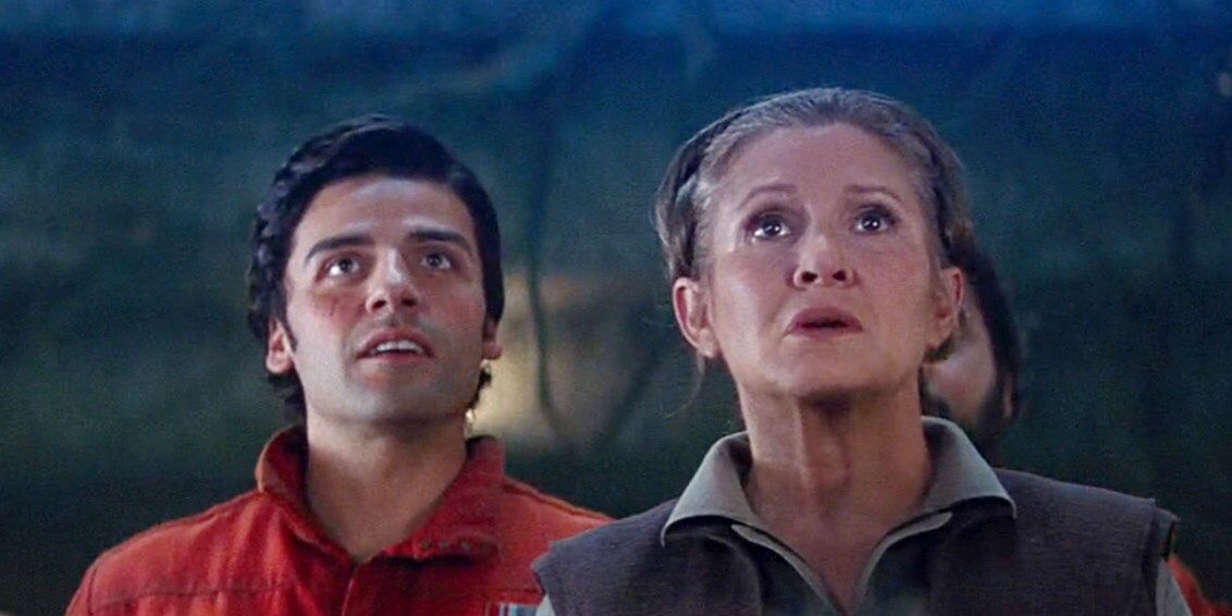 Poe and Princess Leia, Star Wars: Force Awakens