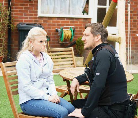 Neil manipulates Bethany Platt in Coronation Street