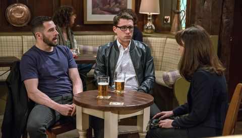 Ross, Finn and Emma Barton continue to worry about finances in Emmerdale