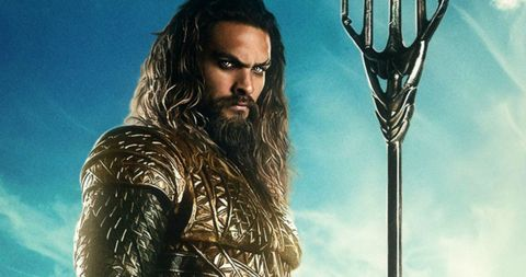 Jason Momoa as Aquaman Justice League promo