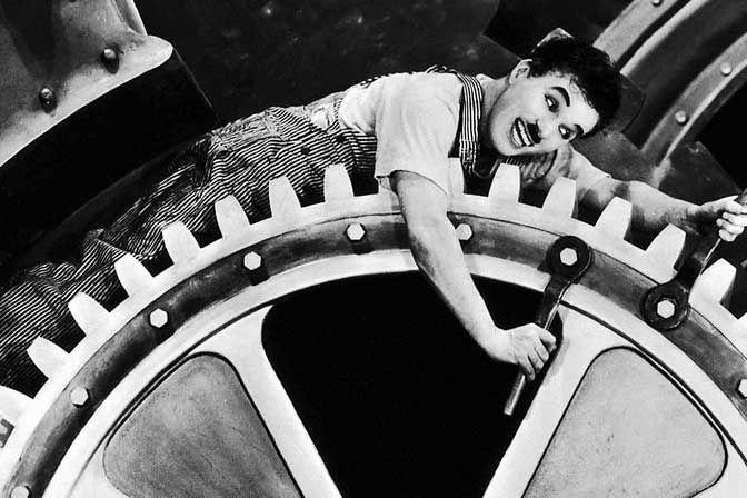 Modern Times starring Charlie Chaplin