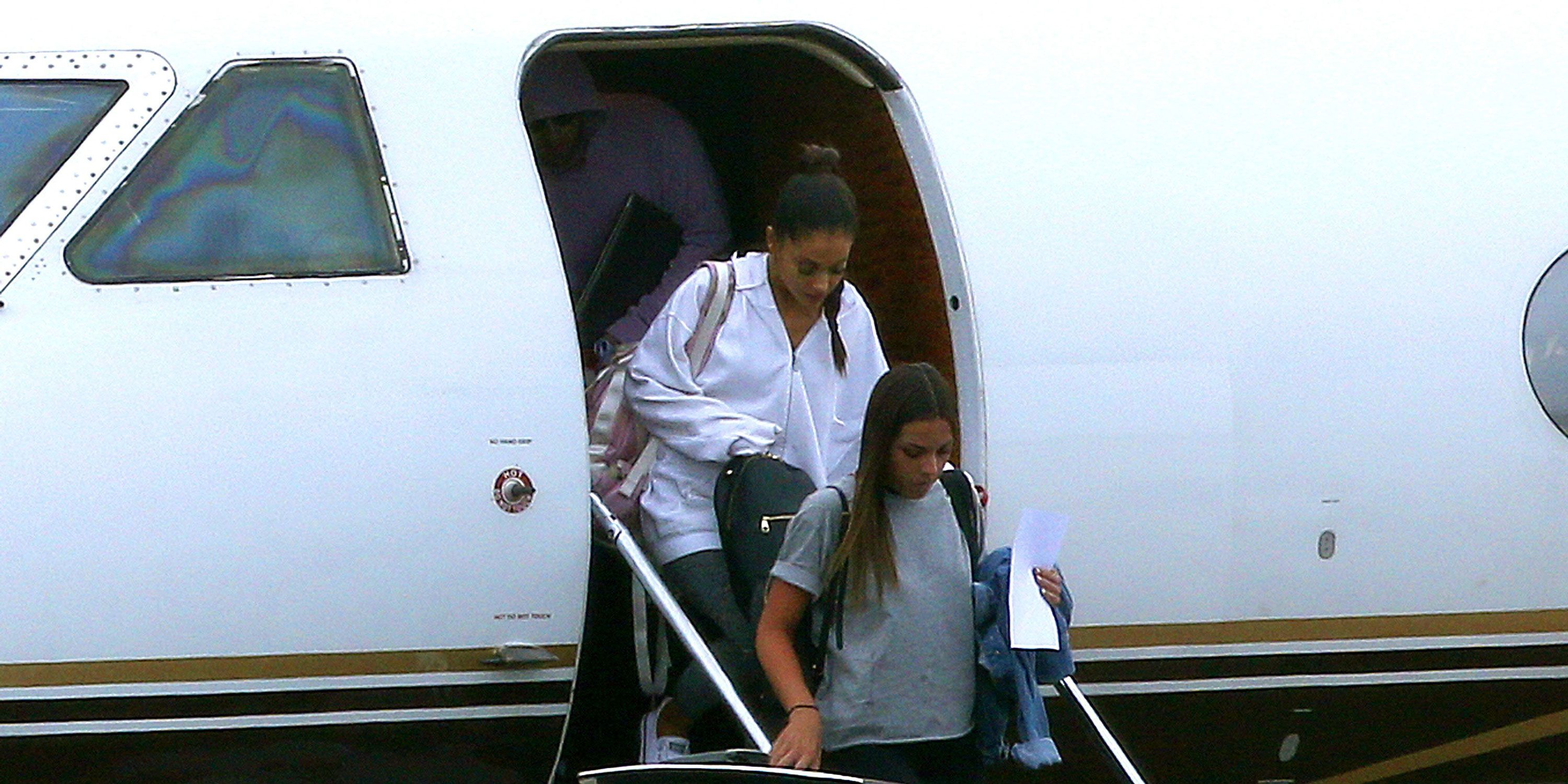 Ariana Grande arrives back in the UK this morning at Stansted Airport