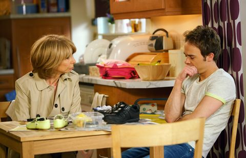 EMBARGO 06/06/17 David opens up to Gail in Coronation Street