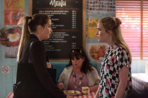 Abi and Lauren Branning discuss recent events in EastEnders