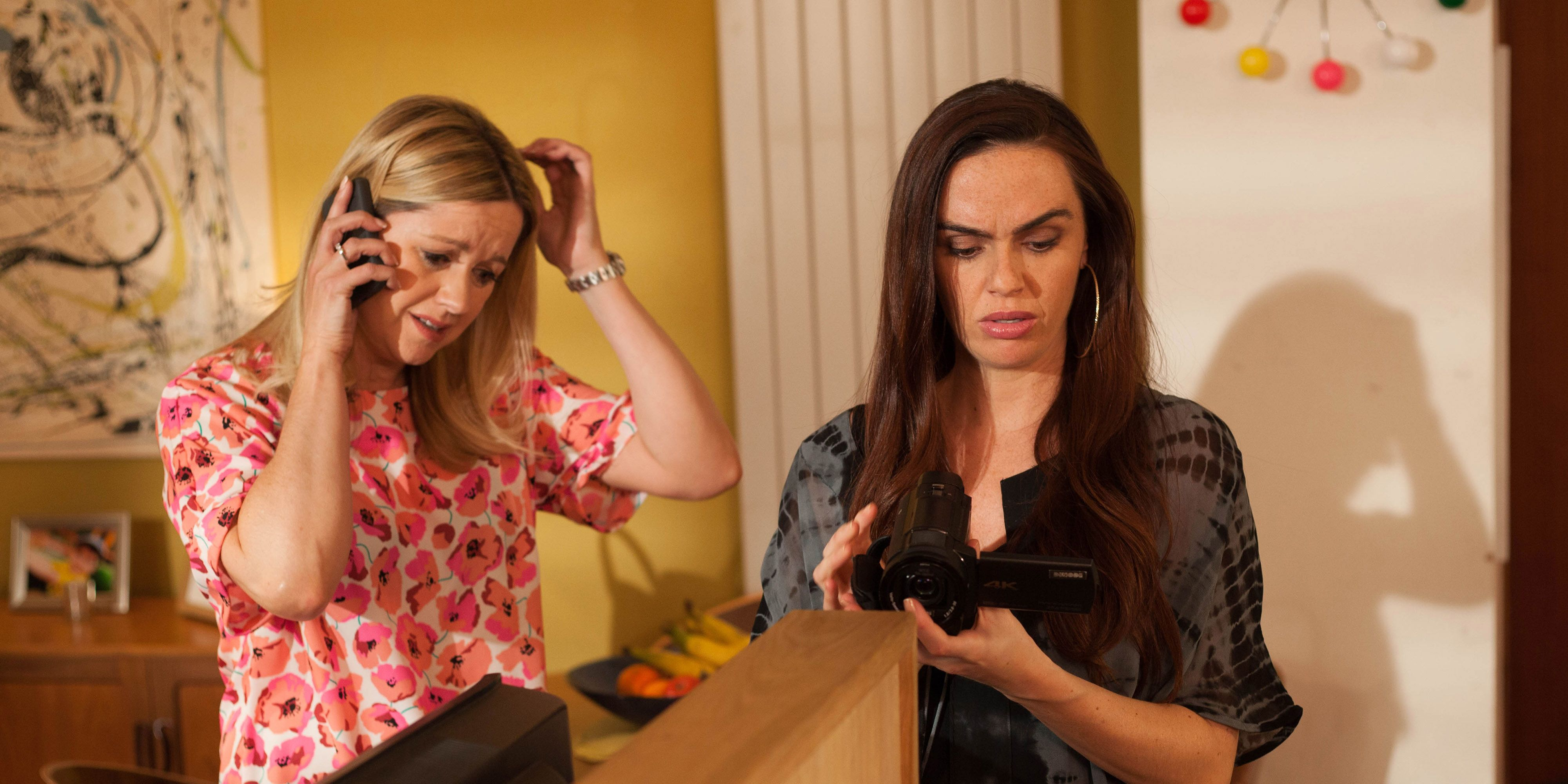 Diane Hutchinson and Mercedes McQueen find Scott Drinkwell's video diary in Hollyoaks