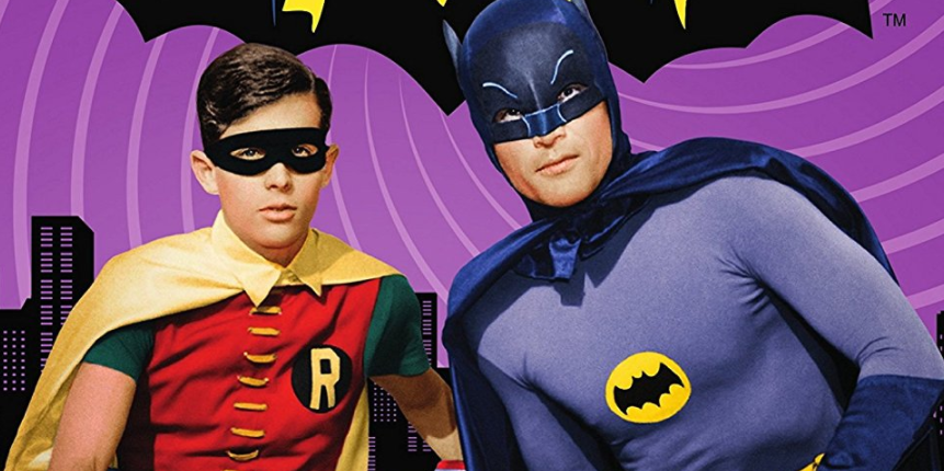Burt Ward (Robin) and Adam West (Batman)