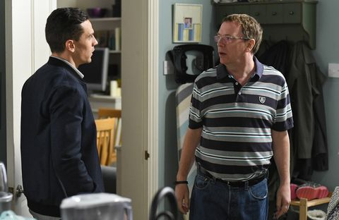 Steven Beale gives Ian his Father's Day present in EastEnders