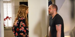 Aidan Connor and Maria Connor panic they're about to be caught in Coronation Street