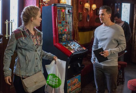 Abi Branning and Steven Beale are awkward at the Queen Vic in EastEnders