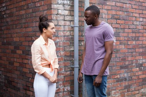 Shane and Cleo in Hollyoaks