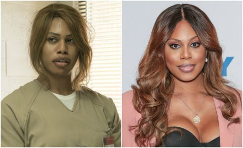 Laverne Cox in Orange is the New Black and out of the show