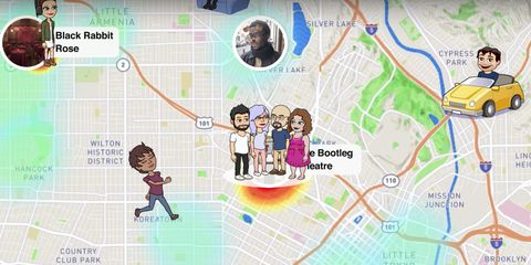 Snap Map Snapchat feature