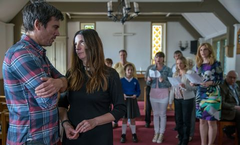 Cain Dingle and Harriet Finch spark gossip from the choir in Emmerdale
