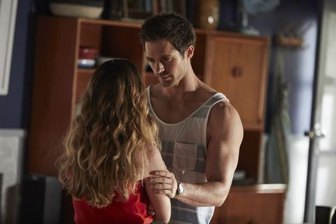 Tension between Nate Cooper and Tori Morgan in Home and Away