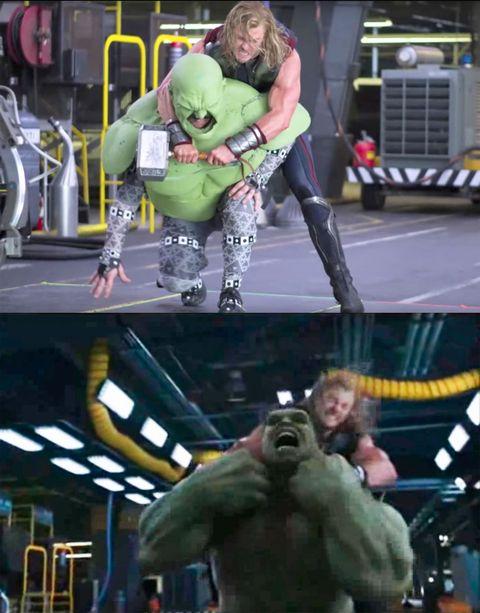 <p>Thor vs The Incredible Spongey Torso.</p>