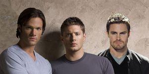 Jared Padalecki, Jensen Ackles, Stephen Amell, Supernatural and Arrow
