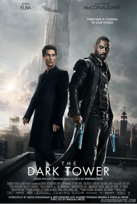 4c3ace16f7857 The Dark Tower poster Matthew McConaughey Idris Elba