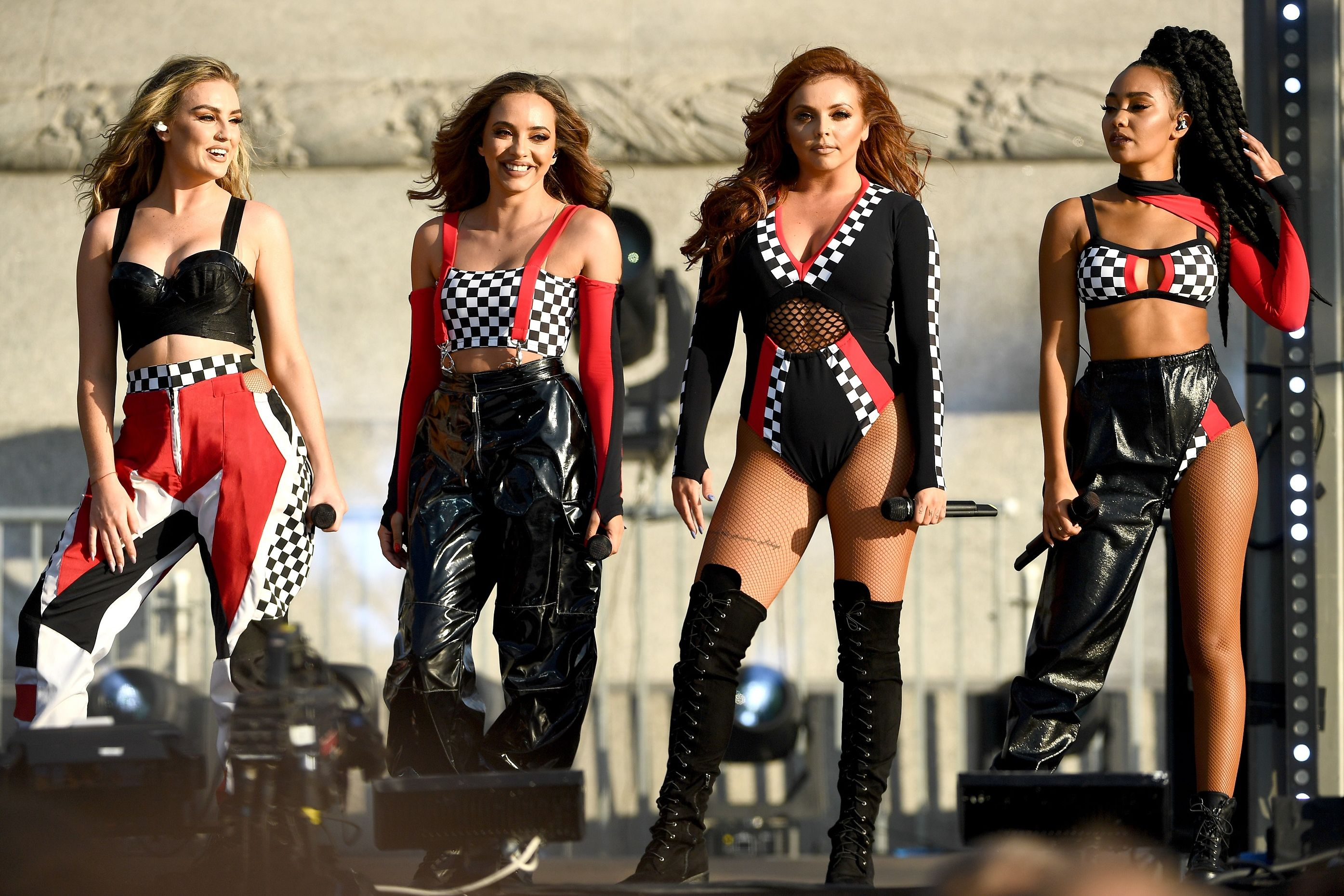 Little Mix perform at the F1 Live in London event