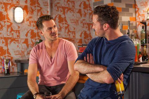 Darren Osborne catches up with Luke Morgan in Hollyoaks