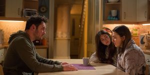 Martin, Stacey and Bex Fowler discuss recent events in EastEnders