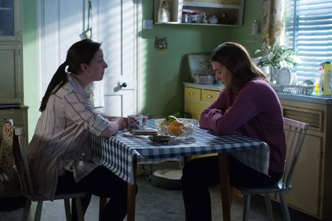 Sonia Fowler talks with Bex Fowler in EastEnders