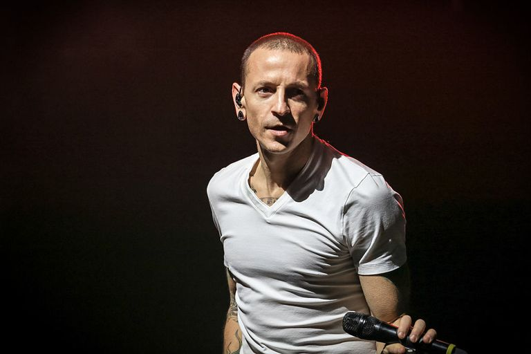 Following the death of chester bennington linkin park cancels chester bennington of linkin park performs on stage at o2 arena on november 23 2014 stopboris Image collections