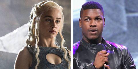 John Boyega - Emilia Clarke - Game of Thrones - Star Wars - Finn - Daenerys Targaryen