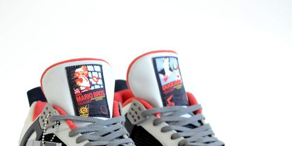 1559bf86a8353d These custom Nintendo Nike Air Jordan IV trainers are a super expensive  dose of 80s nostalgia