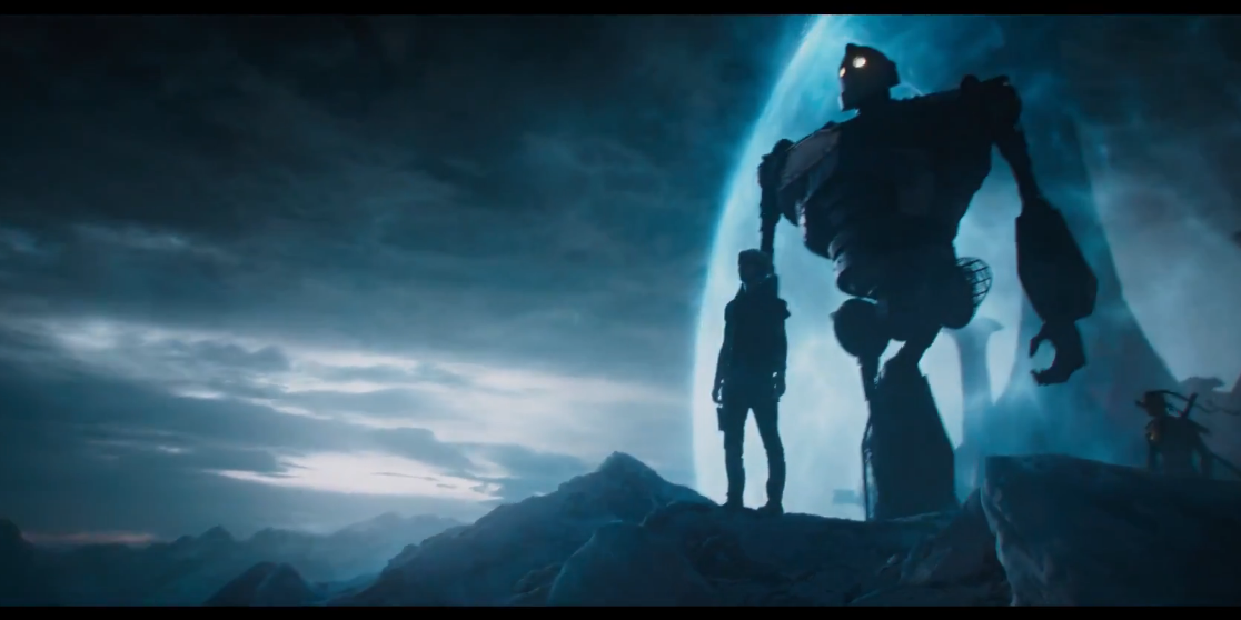 Ready Player One trailer screengrab featuring Iron Giant