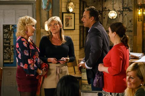 Erica Holroyd starts work at the Bistro in Coronation Street