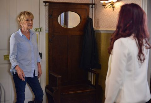 Shirley Carter confronts Whitney in EastEnders