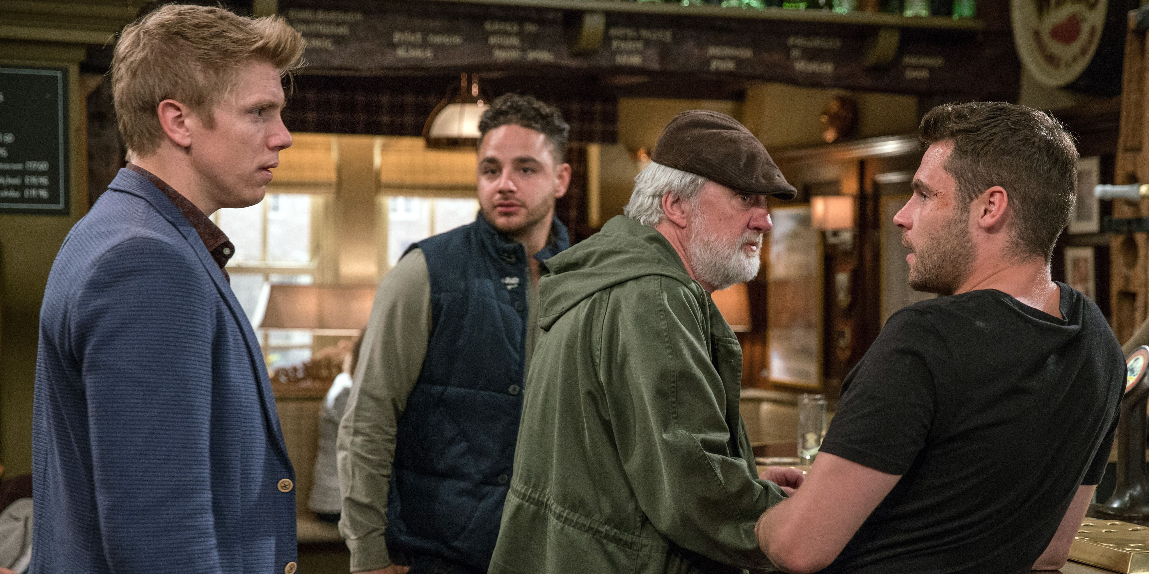 Robert Sugden shows his concern for Aaron Dingle in Emmerdale